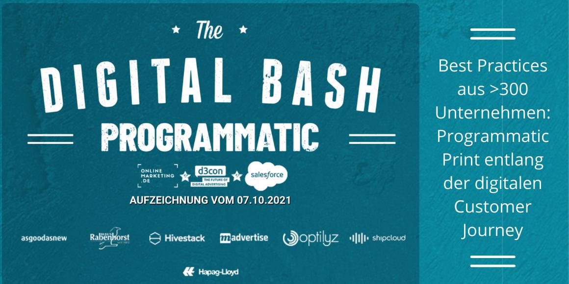 Digital Bash Programmatic Print